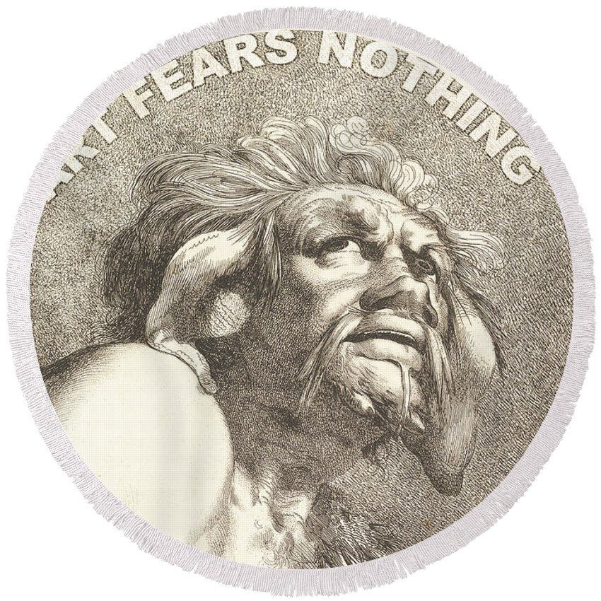 Rise Fear Nothing - Round Beach Towel