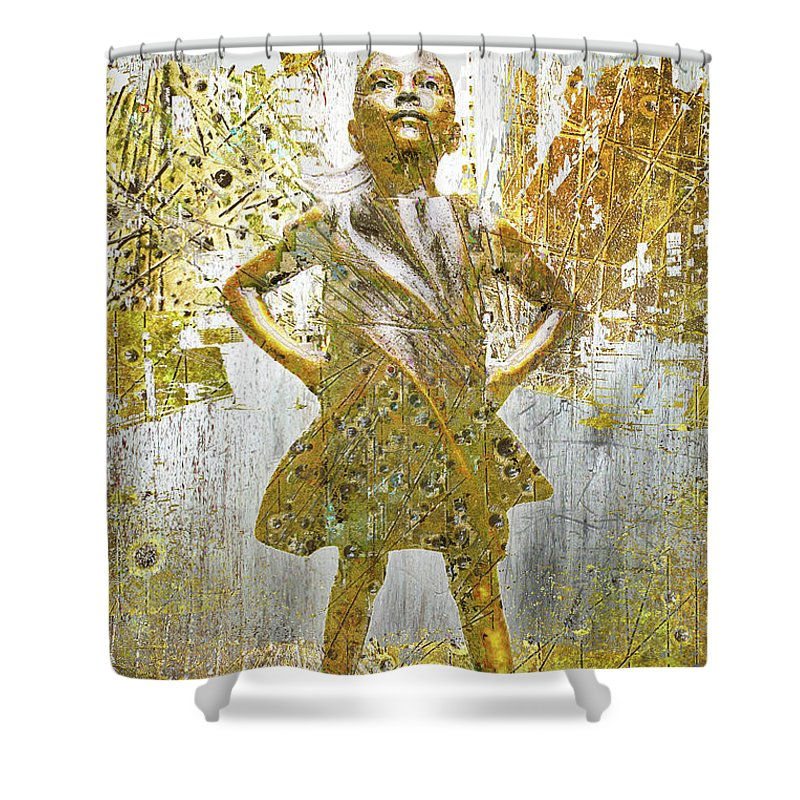 Rise Fearless Girl - Shower Curtain