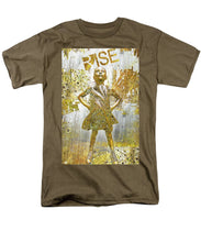 Rise Fearless Girl - Men's T-Shirt  (Regular Fit)