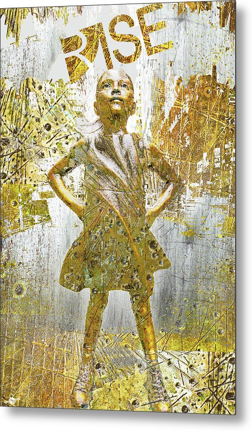 Rise Fearless Girl - Metal Print
