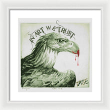 Rise In Art We Trust                                   - Framed Print