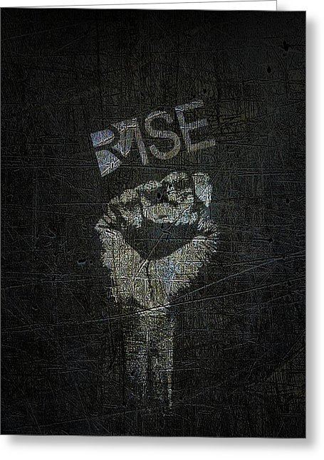 Rise Power - Greeting Card