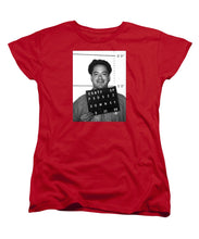 Robert Downey Jr Mug Shot 1999 Black And White - Women's T-Shirt (Standard Fit)