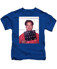 Robert Downey Jr Mug Shot 1999 Color - Kids T-Shirt