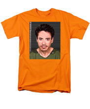 Robert Downey Jr Mug Shot 2001 Color - Men's T-Shirt  (Regular Fit)
