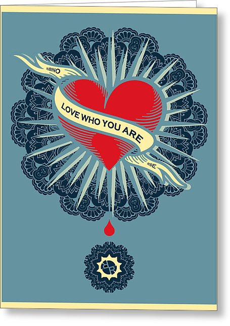 Rubino Blood Heart - Greeting Card
