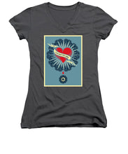 Rubino Blood Heart - Women's V-Neck (Athletic Fit)