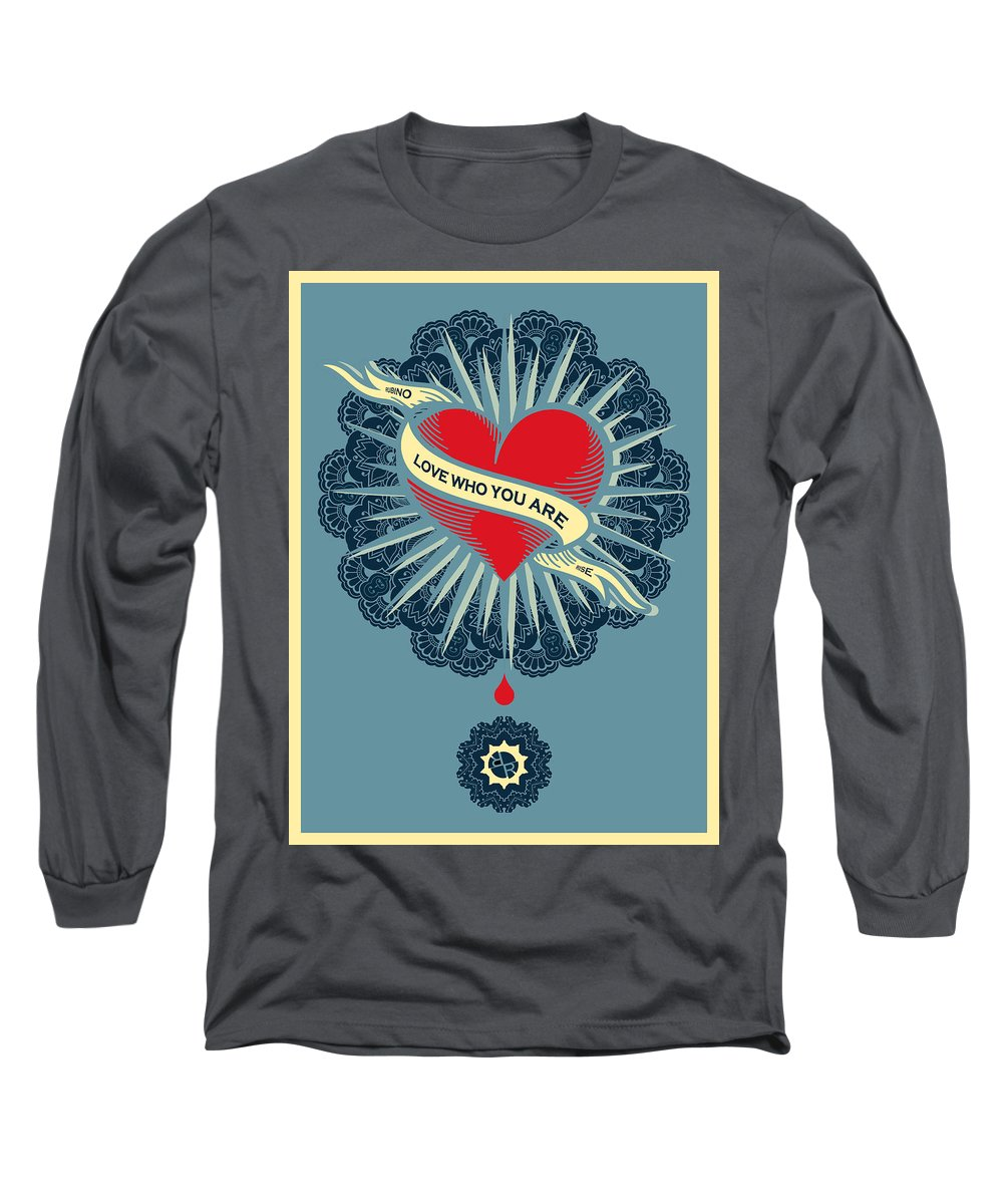 Rubino Blood Heart - Long Sleeve T-Shirt