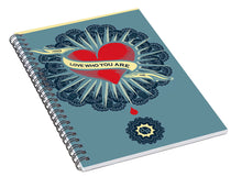 Rubino Blood Heart - Spiral Notebook