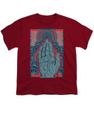 Rubino Blue Zen Namaste Hand - Youth T-Shirt