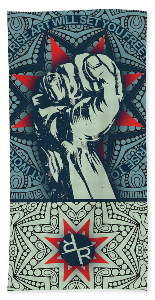 Rubino Fist Mandala - Beach Towel