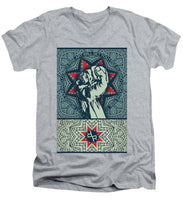 Rubino Fist Mandala - Men's V-Neck T-Shirt