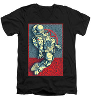 Rubino Float Astronaut - Men's V-Neck T-Shirt