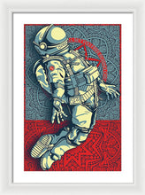 Rubino Float Astronaut - Framed Print