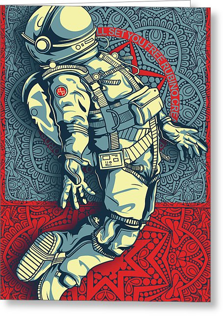 Rubino Float Astronaut - Greeting Card