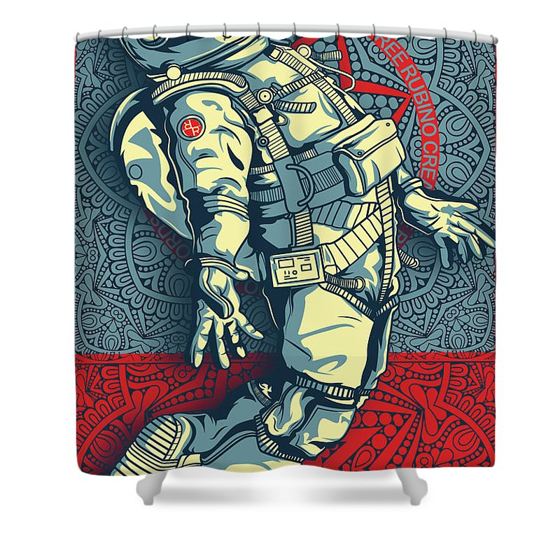 Rubino Float Astronaut - Shower Curtain