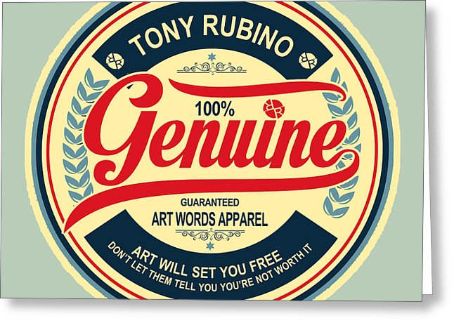 Rubino Genuine - Greeting Card