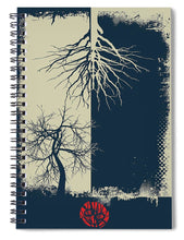 Rubino Grunge Tree - Spiral Notebook