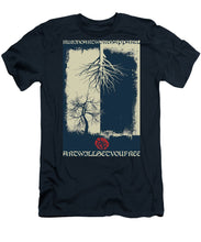 Rubino Grunge Tree - Men's T-Shirt (Athletic Fit)