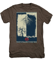 Rubino Grunge Tree - Men's Premium T-Shirt