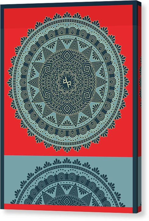 Rubino Indian Mandala - Canvas Print