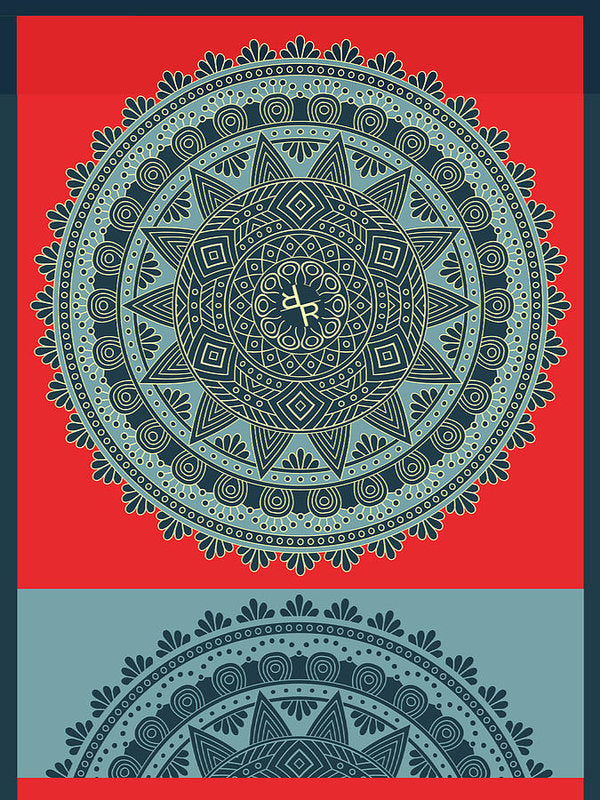 Rubino Indian Mandala - Art Print