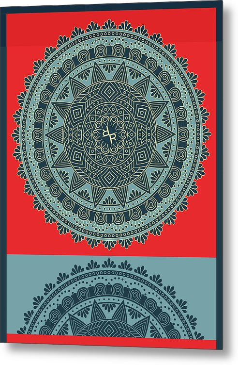 Rubino Indian Mandala - Metal Print
