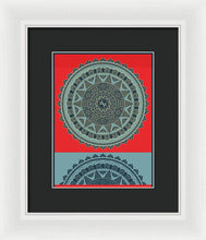 Rubino Indian Mandala - Framed Print
