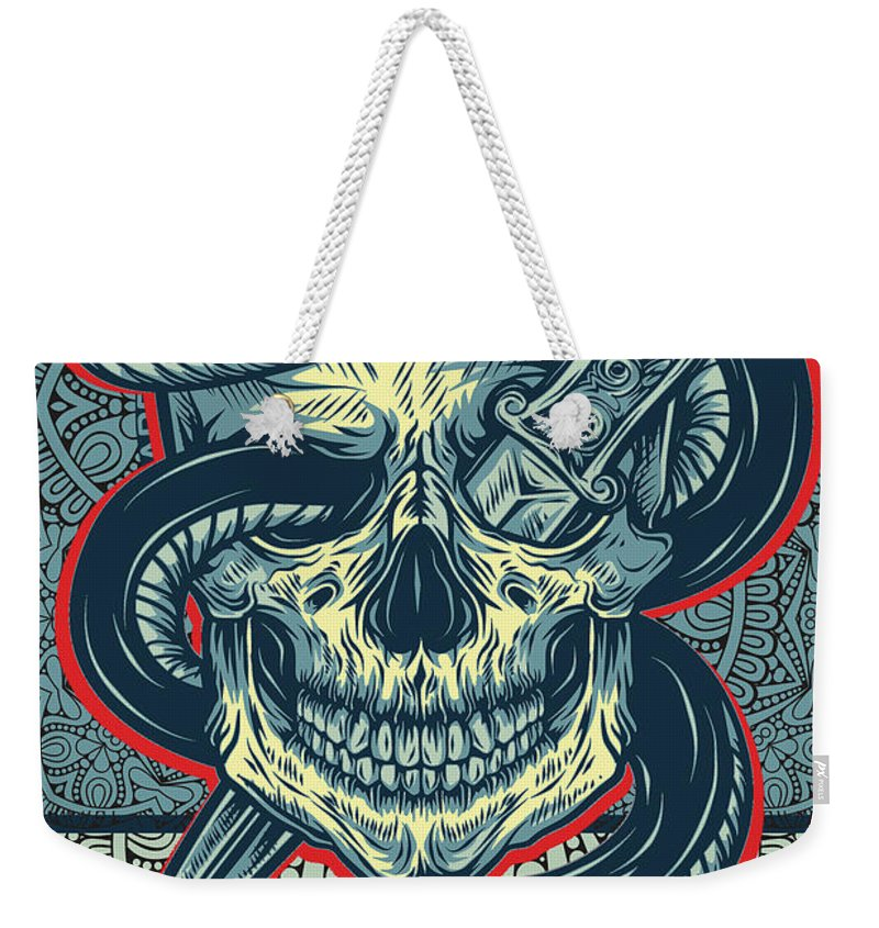 Rubino Logo Tattoo Skull - Weekender Tote Bag