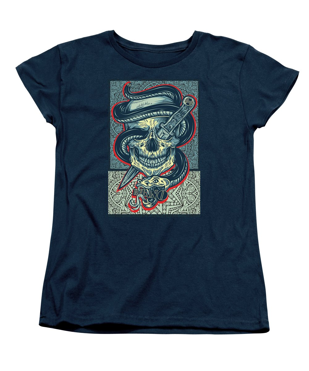 Rubino Logo Tattoo Skull - Women's T-Shirt (Standard Fit)
