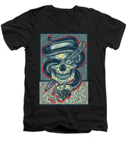 Rubino Logo Tattoo Skull - Men's V-Neck T-Shirt