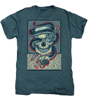 Rubino Logo Tattoo Skull - Men's Premium T-Shirt