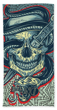 Rubino Logo Tattoo Skull - Bath Towel
