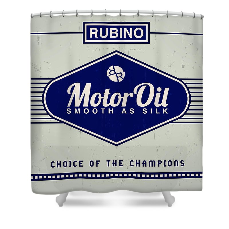 Rubino Motor Oil - Shower Curtain