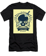 Rubino Motorcycle And Tattoo Skull - Men's T-Shirt (Athletic Fit)