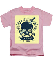 Rubino Motorcycle And Tattoo Skull - Kids T-Shirt