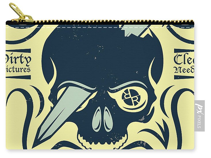 Rubino Motorcycle And Tattoo Skull - Carry-All Pouch
