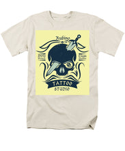 Rubino Motorcycle And Tattoo Skull - Men's T-Shirt  (Regular Fit)