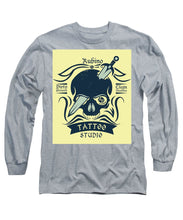 Rubino Motorcycle And Tattoo Skull - Long Sleeve T-Shirt