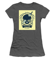Rubino Motorcycle And Tattoo Skull - Women's T-Shirt (Athletic Fit)