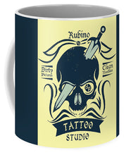 Rubino Motorcycle And Tattoo Skull - Mug