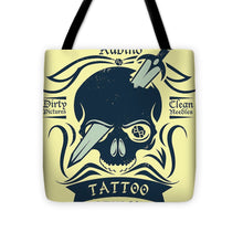 Rubino Motorcycle And Tattoo Skull - Tote Bag