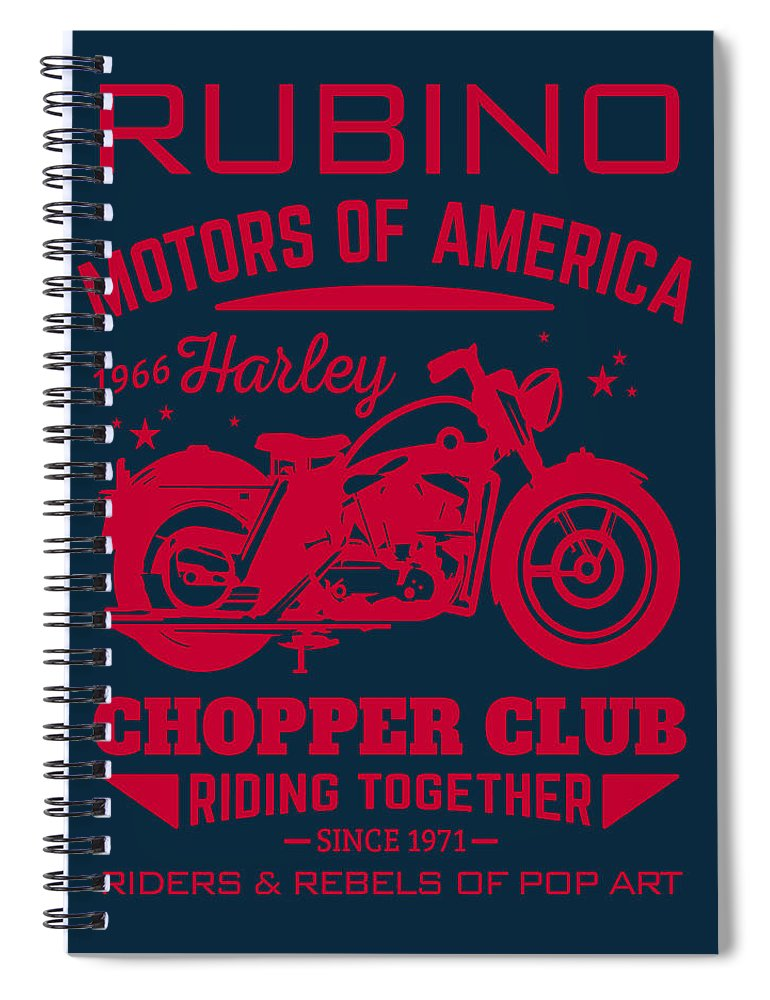 Rubino Motorcycle Club - Spiral Notebook