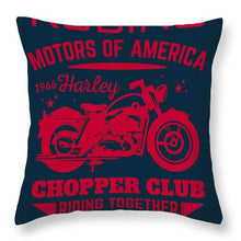 Rubino Motorcycle Club - Throw Pillow