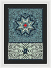 Rubino Outline Mandala - Framed Print