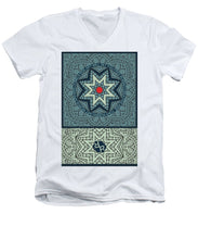 Rubino Outline Mandala - Men's V-Neck T-Shirt