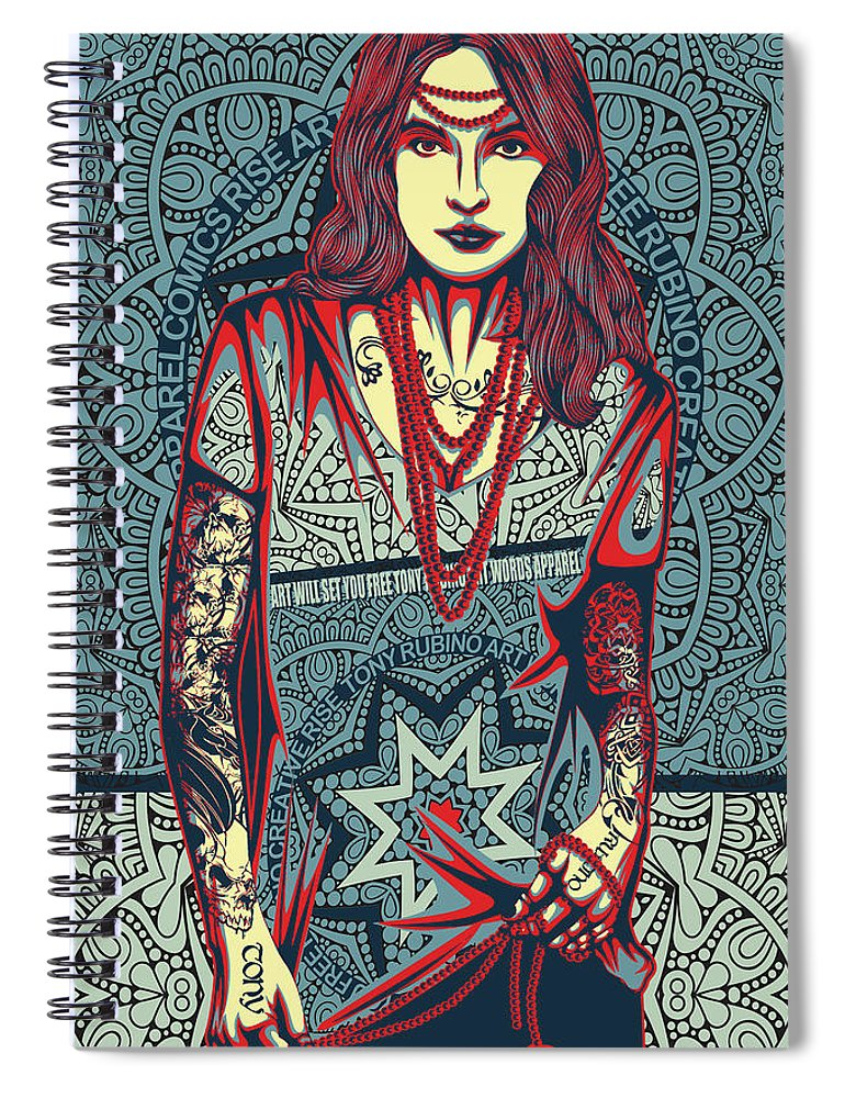 Rubino Red Lady - Spiral Notebook