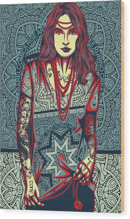 Rubino Red Lady - Wood Print