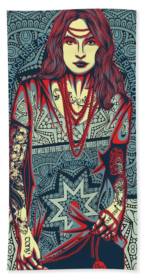 Rubino Red Lady - Beach Towel
