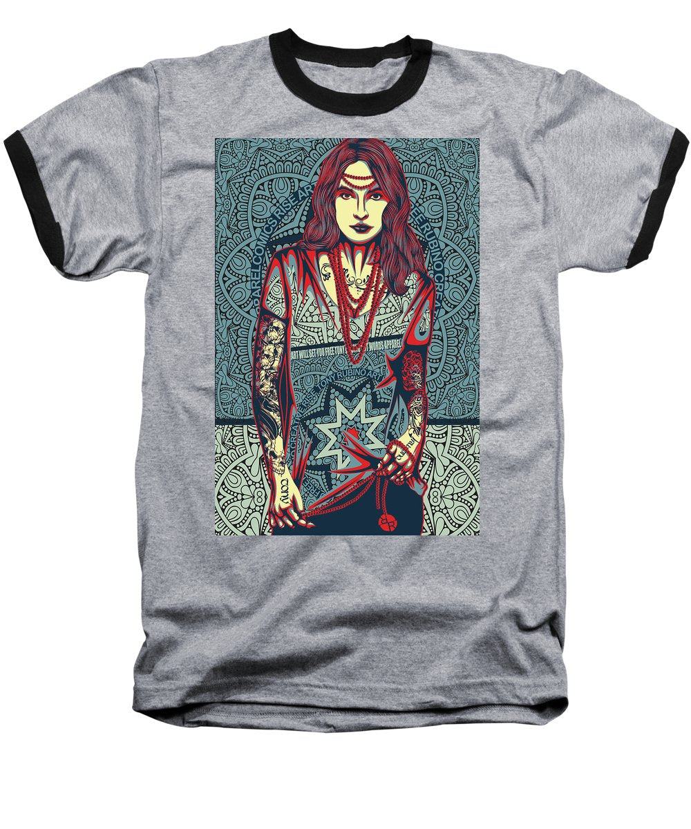 Rubino Red Lady - Baseball T-Shirt